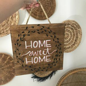 Other - Home Sweet Home Wood Wall Hanging Sign